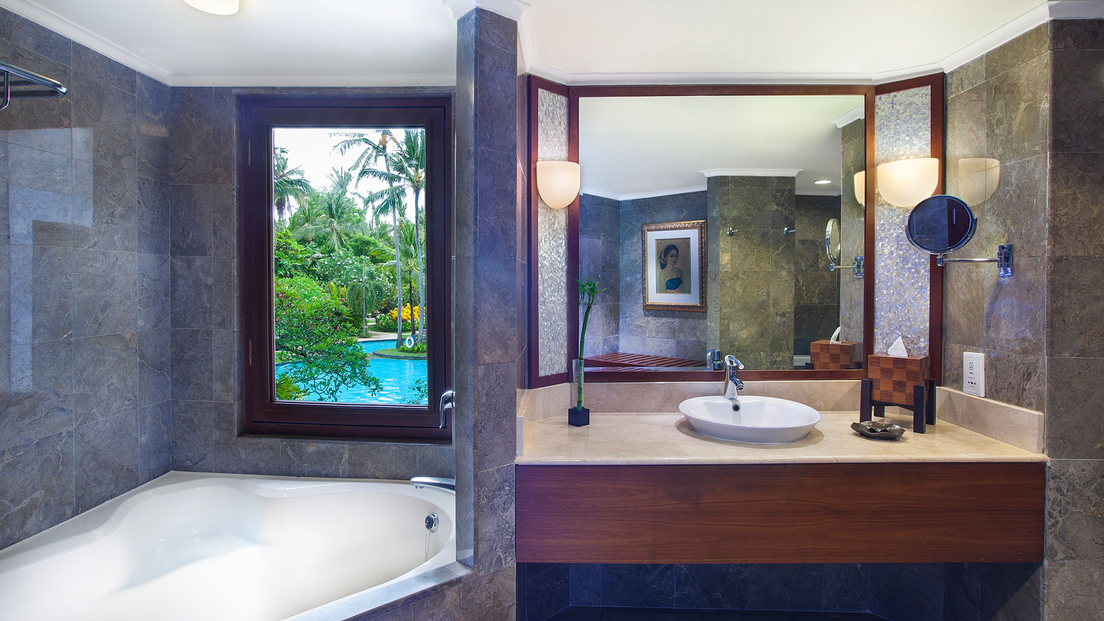 Deluxe Executive Suite Bathroom at The Laguna Bali