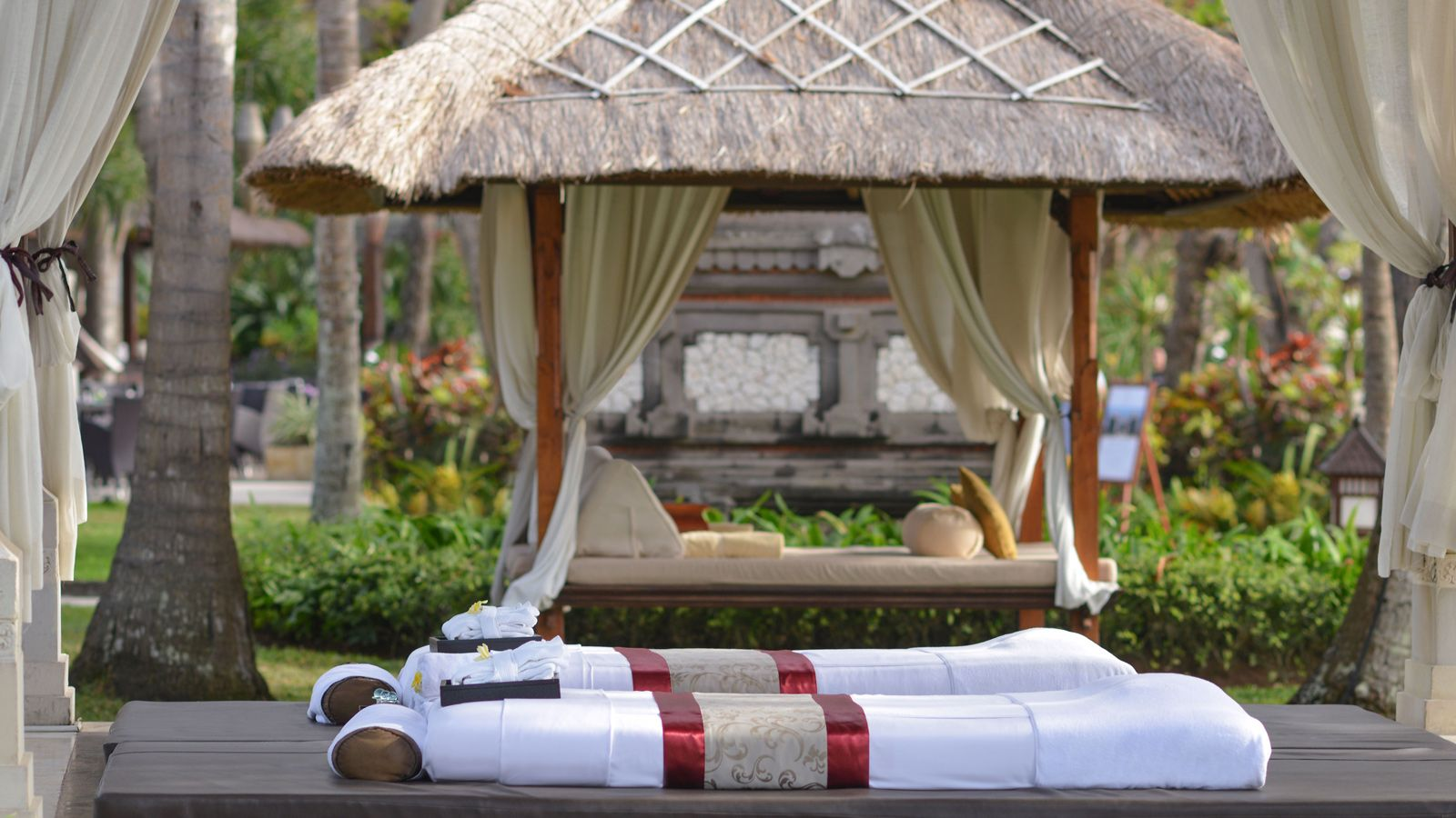 Beachfront Gazebo at The Laguna Resort & Spa, Nusa Dua, Bali