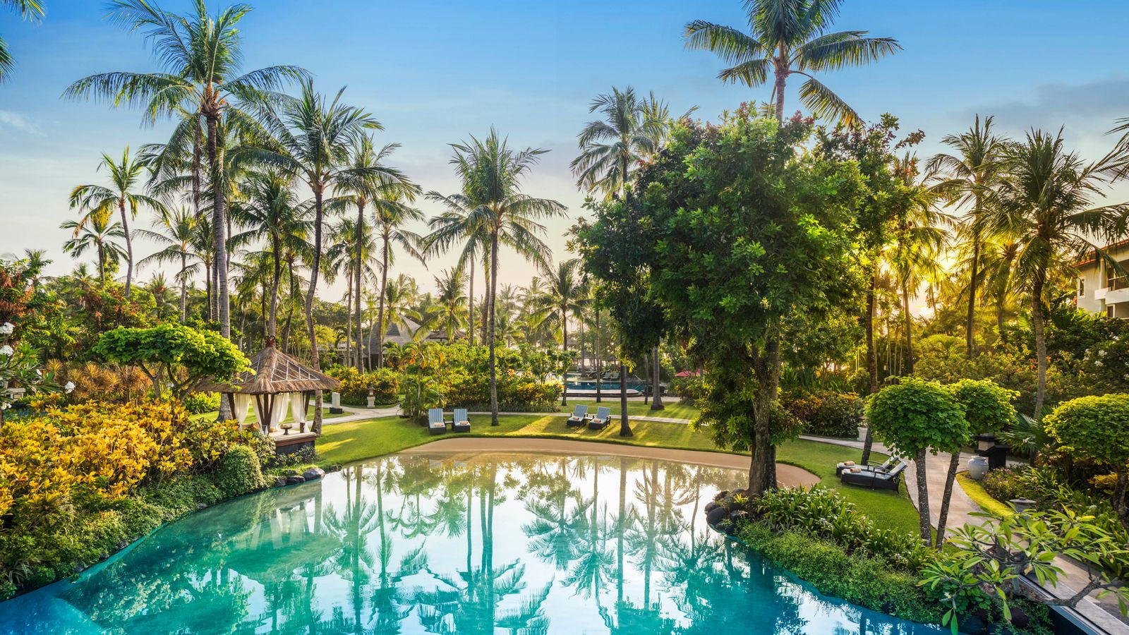 Sparkling Blue Lagoon at The Laguna Bali Resort & Spa