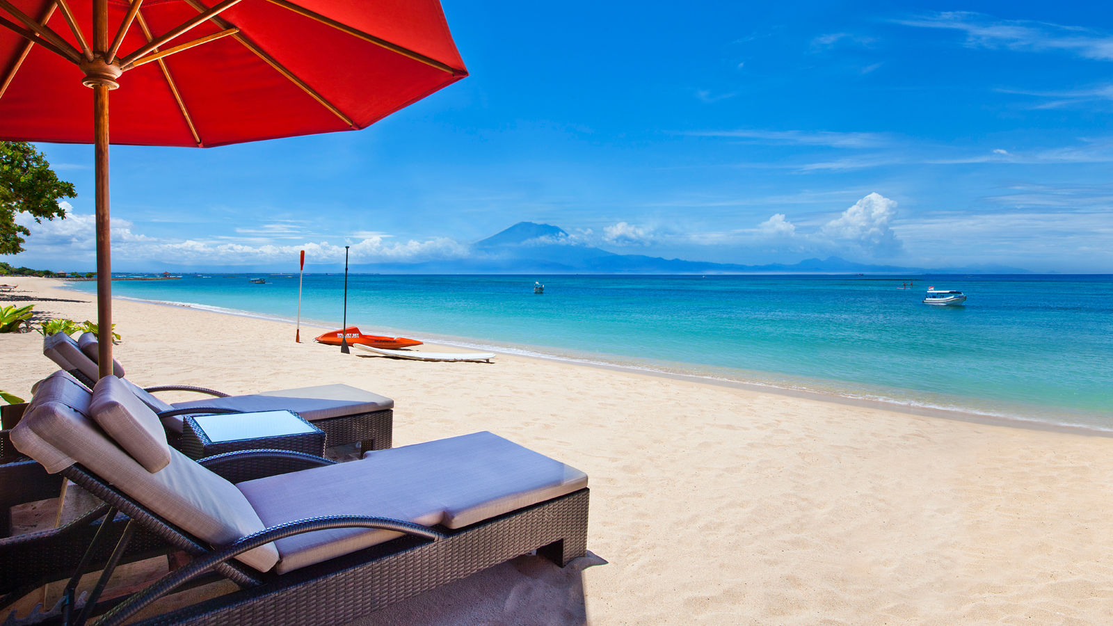 Pristine White Sand Beach at The Laguna Resort & Spa
